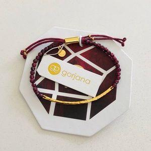 Gorjana Power Gemstone Bracelet Garnet Gold NWT